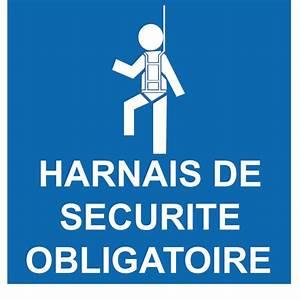 Harnais De Securite Pour Elagage : autocollant harnais de s curit obligatoire signal tique ~ Edinachiropracticcenter.com Idées de Décoration