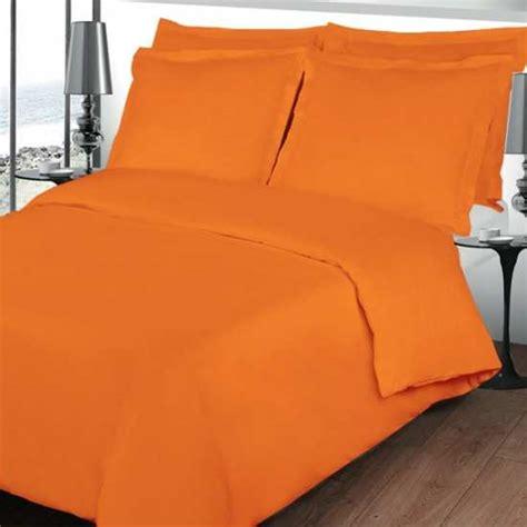 housse de couette 200x200 linge de lit 200x200 orange