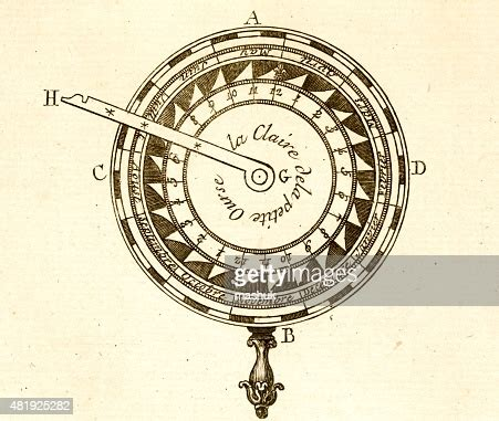 calendar science tool  century technical engraving high
