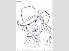 Step by Step How to Draw Tim McGraw DrawingTutorials101com