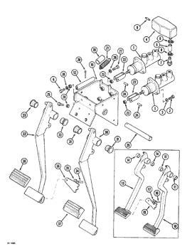 (5150) - CASE IH DIESEL TRACTOR (1/96-12/96) (07) - BRAKES