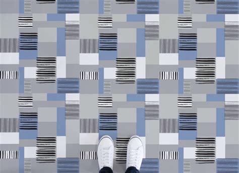 retro patchwork pattern vinyl flooring atrafloor