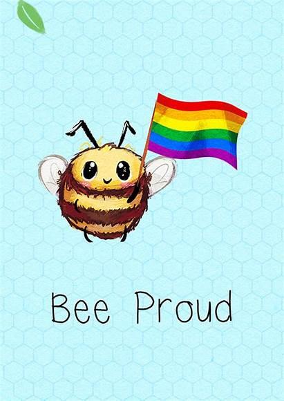 Ecard Bumbles Proud Bee