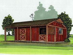 cody 1 or 2 stall barn plan With 2 stall horse barn kits