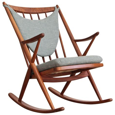 frank reenskaug modern teak rocking chair at 1stdibs