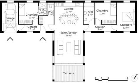 plan maison moderne 3 chambres plan maison etage 3 chambres 7 plan maison moderne en t
