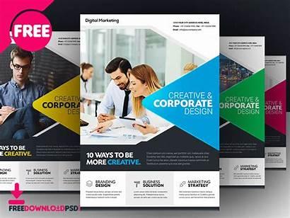 Flyer Template Templates Brochure Marketing Psd Flyers