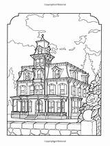 Coloring Victorian Pages Houses Adult Books Colouring Adults Sheets Printable Dover Kristin Christmas Daniel Homes Printables Lewis Helberg Yard 1000 sketch template