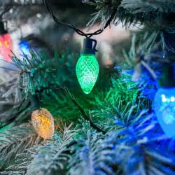 80 multi coloured led c7 pinecone christmas tree lights