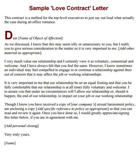 sample marriage contract template   sample