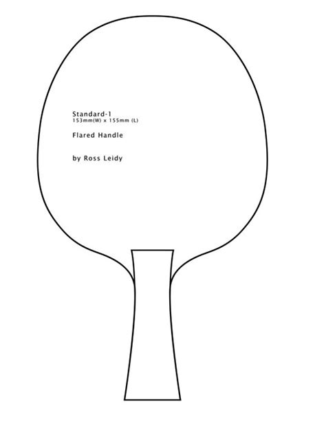Paddle Template by Ping Pong Paddle Template Www Imgkid The Image Kid