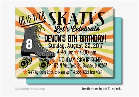 printable roller skating birthday party inv
