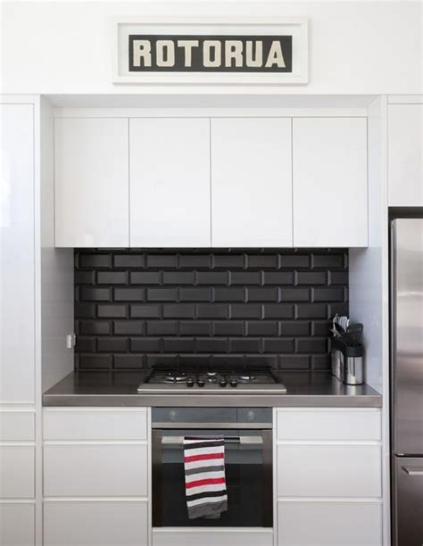 black tiled splashbacks for kitchens kitchen splashback tiles splashback tiles and black 7909