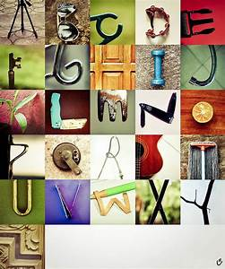 Object alphabet letters pinterest for Pictures of letters made from objects