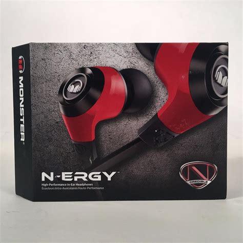 Monster Ncredible N Ergy In Ear Headphones Red Black Blue