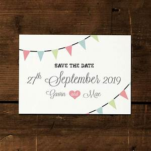 Sport Party Invitations Vintage Bunting Save The Date Card Or Magnet By Feel Good