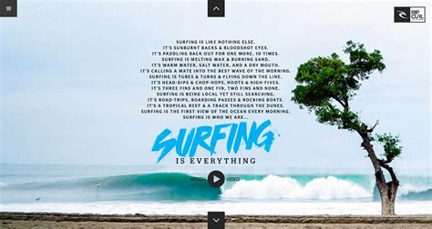 Surfing Is Everything By Rip Curl