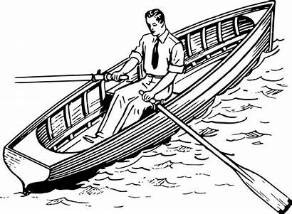 Drawing Clipart Row Boat Rowing Rowboat Sketch
