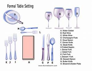 Formal Table Setting Example For Download  U2014 Elaine Swann