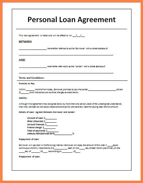 sample loan agreement letter  friends purchase