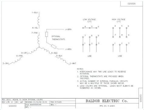Baldor Reliance Super Motor Wiring Diagram