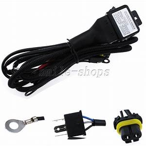 Hid Xenon Hi  Lo Headlight Relay Fuse Cable Wiring Harness For H4  9003 35w  55w