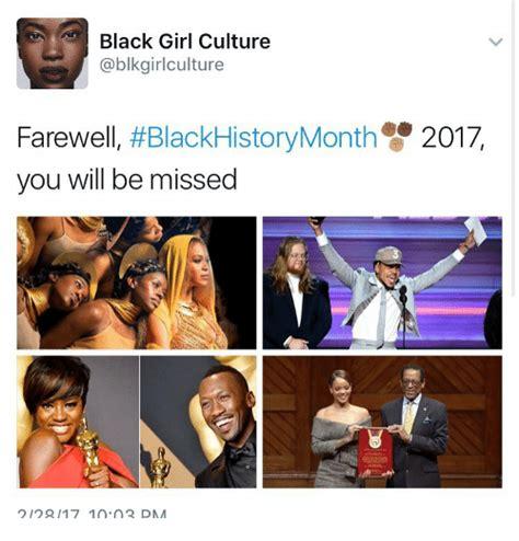 Little Black Girl Meme - black girl culture farewell blackhistorymonth 2017 you will be missed q 117 1002 dmm meme on