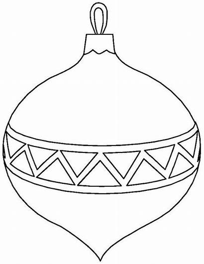 Christmas Clipart Printable Ornament Coloring Ornaments Pages