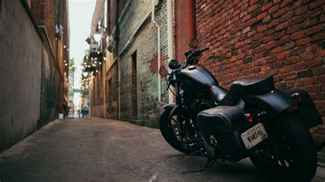 Harley Davidson Rod 4k Wallpapers by Wallpaper Harley Davidson Black Motorcycle Back View Path