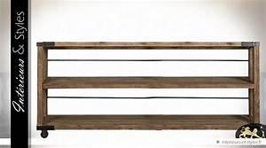 Console Bois Metal Industriel : grande console tag re de style industriel en bois et ~ Teatrodelosmanantiales.com Idées de Décoration