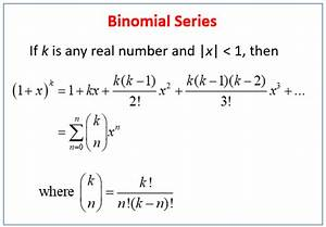 Binomial Series  Examples  Solutions  Videos