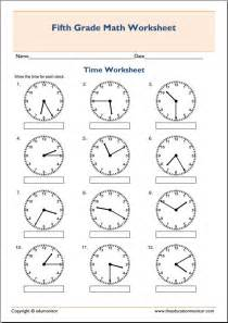 practice telling time worksheets 5th grade math sheets laptuoso