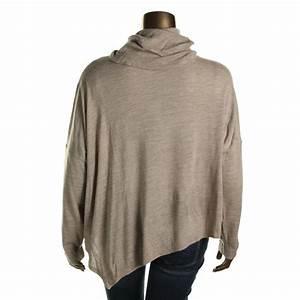 Eileen Fisher 4929 Womens Merino Wool Turtleneck Poncho ...