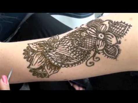 tattoo upper arm henna youtube