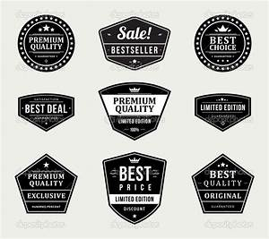 14 Blank Retro Vintage Badges Vector Images - Blank ...