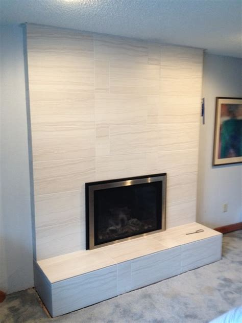 fireplace remodel transitional seattle