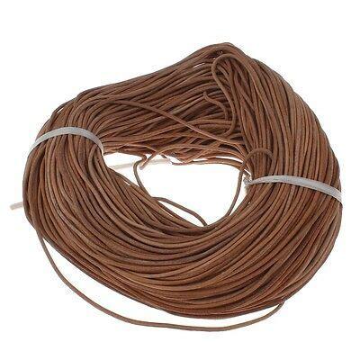 colgante mm arena marron de cuero cuerda joyas