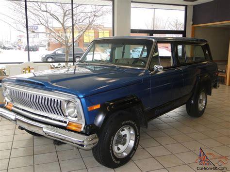 jeep cherokee chief blue 1978 jeep cherokee chief sport v 8 awd great shape runs