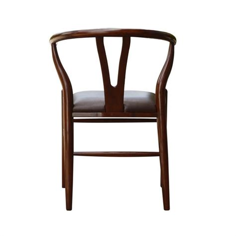 dining chair in walnut finish 53018