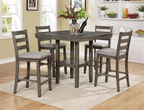 tahoe driftwood grey pc counter height dinette set