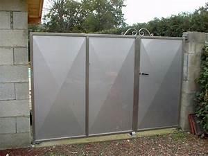 Portail 4 Metres 2 Vantaux : portail coulissant inox avec barreaux ~ Edinachiropracticcenter.com Idées de Décoration