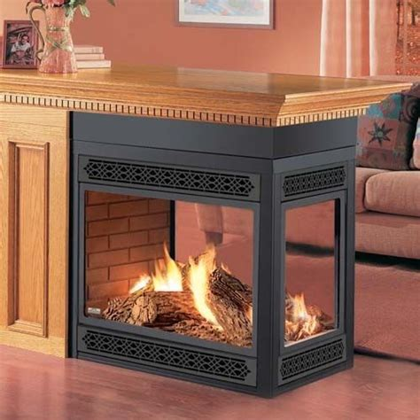 sided gas fireplace sale napoleon  sided