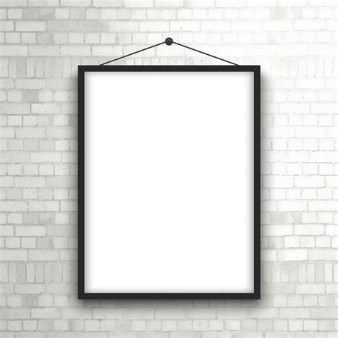 wooden signs with sayings blank picture frame hanging on a brick wall vector free