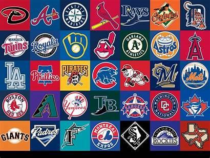 Mlb Logos Baseball League Major History Teams