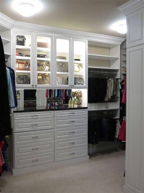 custom white walk in closets traditional closet dc