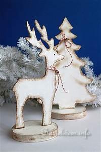 Basteln Mit Kindern Weihnachten Und Winter : bastelidee f r weihnachten winterliche holzdekoration ~ Watch28wear.com Haus und Dekorationen