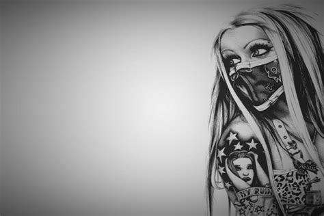 tattoo girl wallpaper hd  wallpapersafari