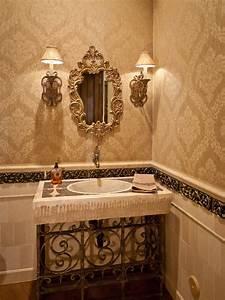 Victorian Bathroom Photos Hgtv Neutral Powder Room With