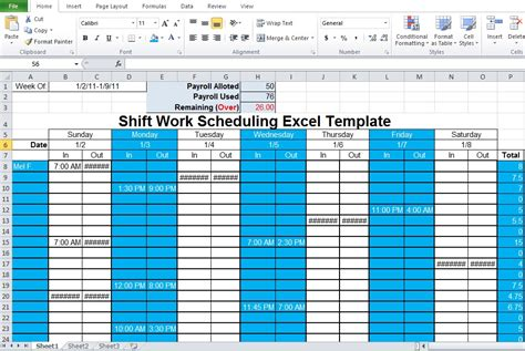 employee shift schedule generator excel template excel tmp