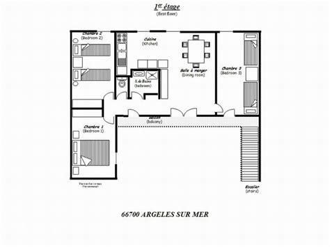 Plan De La Maison  1er étage  Accès Par Escalier
